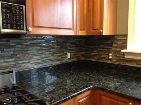 Slate Tile Kitchen Backsplash by Kitchen Backsplashglass Tile And Slate Mix Kitchen