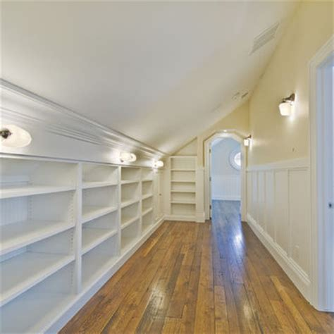 Attic Ceilings by Sloped Attic Ceiling Shelving Ideas Design Sending This