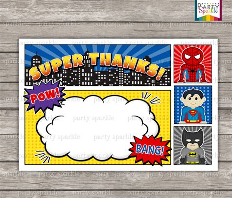 12 blank superhero birthday invitations drevio