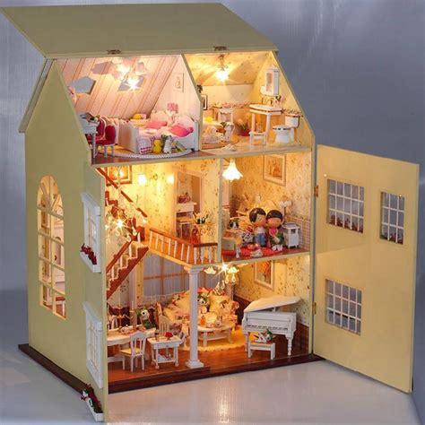 puppenhaus beleuchtung set diy handgefertigte miniatur projekt set holz villa