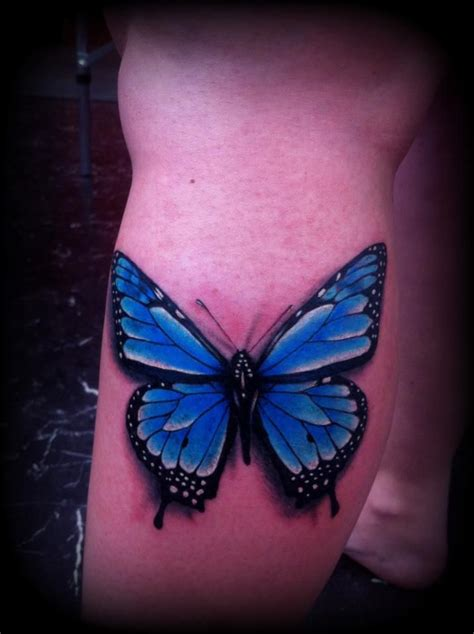 butterfly tattoo realism realistic butterfly tattoo blue by slabzzz on deviantart