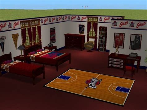 mod the sims cleveland cavaliers bedroom for osubucksgurl04