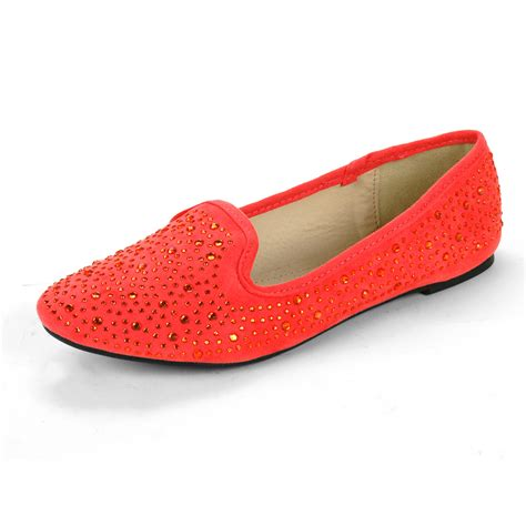 flats shoes for womens velvet loafers rhinestone embellished ballet flats