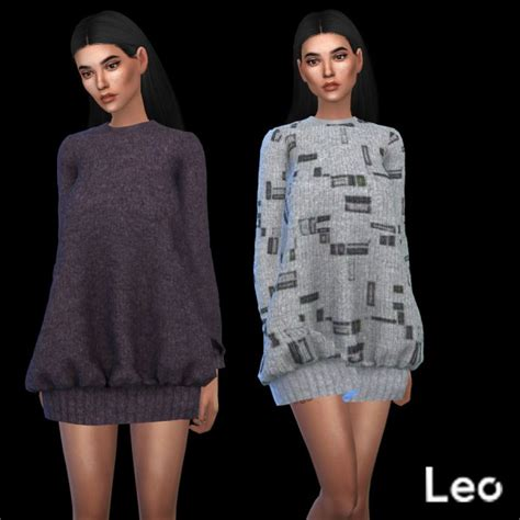 Sweater Cc leo 4 sims oversized sweater recolor sims 4 downloads