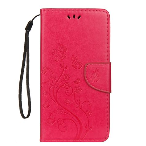 embossed butterfly pattern horizontal flip leather case
