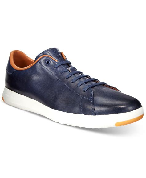 macys mens athletic shoes cole haan s grandpro tennis sneakers in blue for
