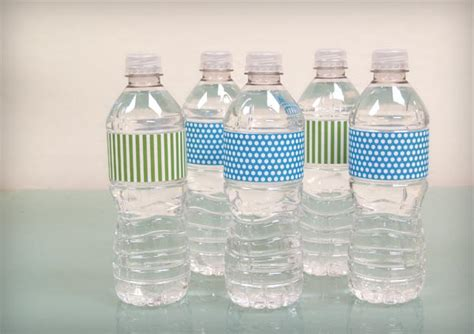 Bump Smitten Diy Shower Water Bottle Labels Free Download Diy Water Bottle Label Template