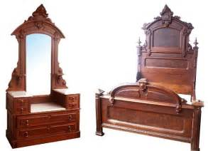 victorian bedroom furniture for sale fabulous walnut victorian bedset by thomas brooks for sale