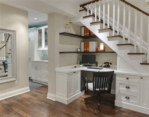 houzz home office basement work space laundry traditional home office