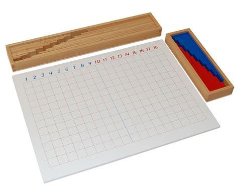 printable montessori addition strip board new montessori subtraction strip board ebay