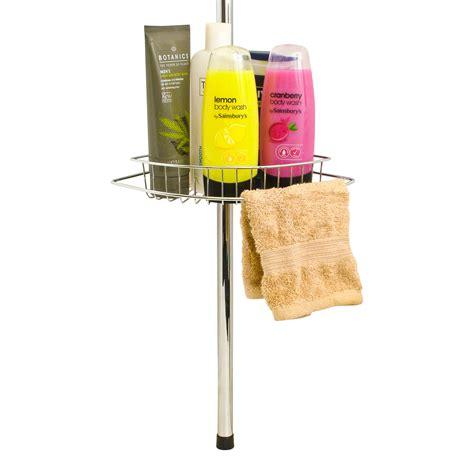 telescopic bathroom caddy shower rack ybm home two tier deluxe shower caddy rack organizer corner shelf