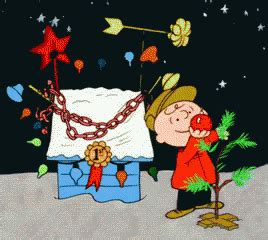 a charlie brown christmas tree gif