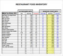 restaurant bookkeeping templates restaurant inventory template 7 free documents