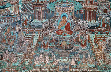 Wooden Wall Murals mogao grottoes dunhuang china fascinating statues