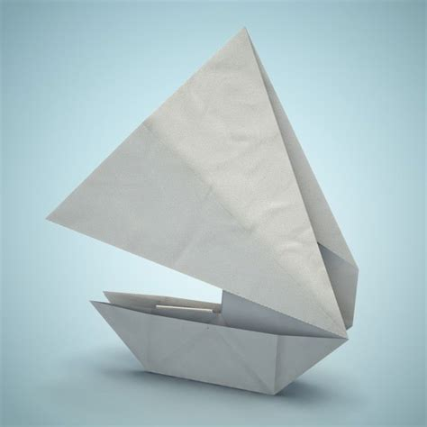 3d Origami Boat - origami boat 3d model obj fbx dae lxo lxl mtl cgtrader