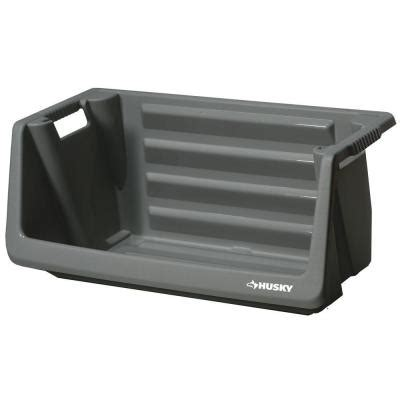 husky stackable storage bin 212327 the home depot