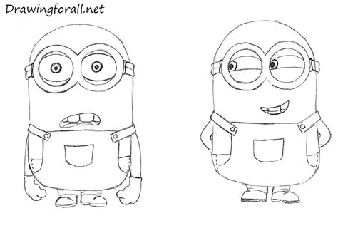 How To Draw A Easy Minion how to draw minions drawingforall net
