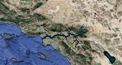 norways largest fjord sognefjorden over los angeles basin - Fjord Los Angeles