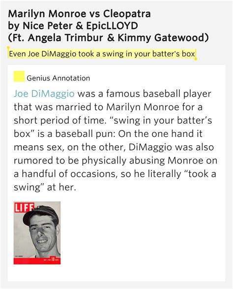 meaning of swing shift even joe dimaggio took a swing in your batter s box