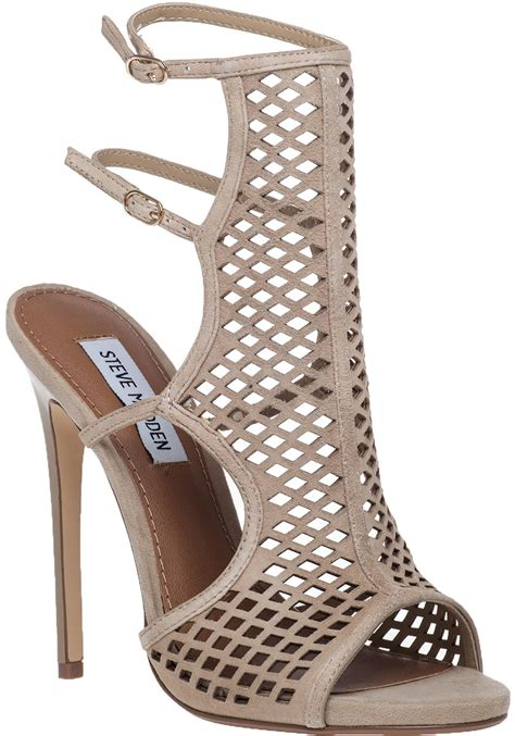steve madden mayline cut out suede sandals in lyst