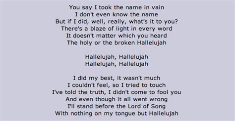 lyrics to hallelujah full version 25 things you might not know about quot hallelujah quot