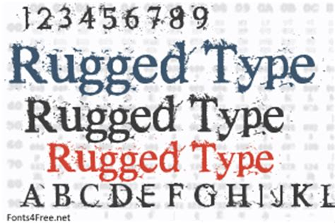 Rugged Names by Rugged Type Font Fonts4free