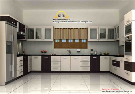 Interiors Kitchen 3d Rendering Concept Of Interior Designs Kerala Home