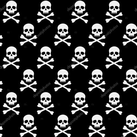 imagenes de calaveras a blanco y negro patr 243 n blanco y negro con calaveras y huesos vector de