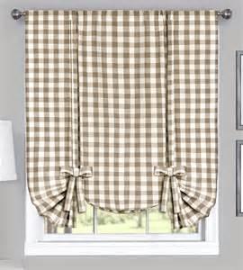 Grey Valance Curtains Buffalo Check Tie Up Shade Grey Country Style Valances