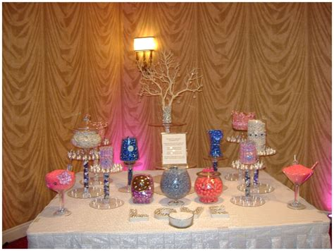 pink and blue charleston wedding candy buffet tanis j events