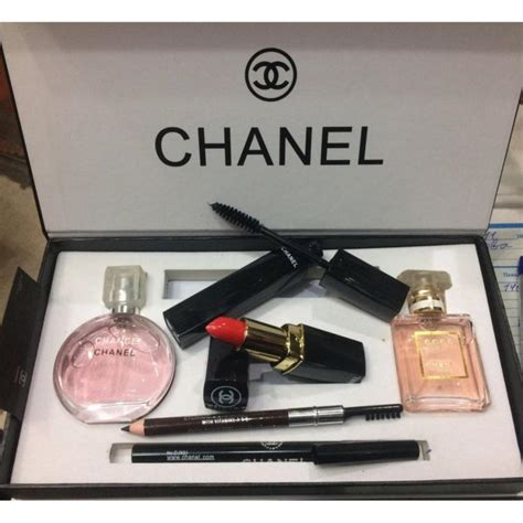 One Set Chanel Premium 1 chanel 5 in 1 limited edition gift set chance coco mademoiselle perfume mascara eyeliner
