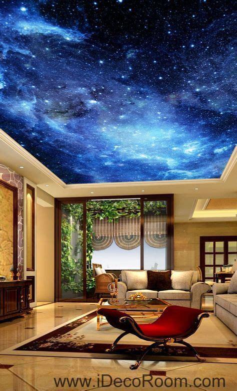 galaxy stars night sky  ceiling wall mural wall paper