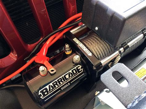 How To Install A Winch On A Jeep Wrangler Barricade 9500lb Winch Install Jeep Wrangler Jk Wiring