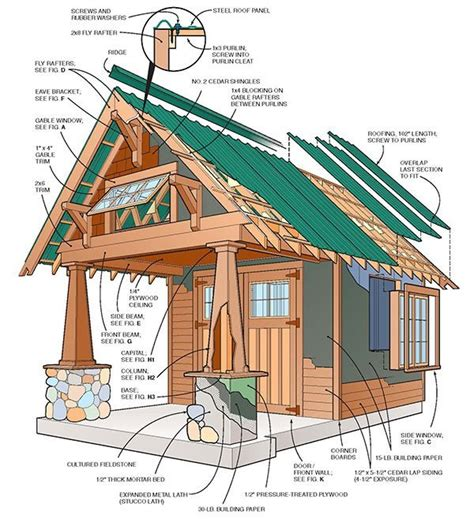 Cabin Blueprints Free by 10 215 10 Two Storey Shed Plans Amp Blueprints For Large Gable Shed