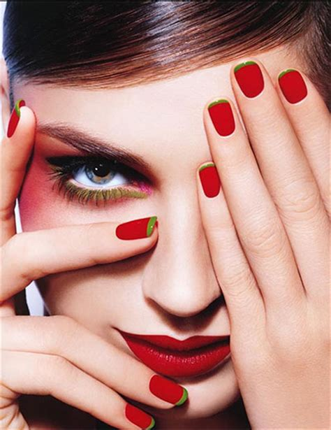 easy nail art red simple red nail art designs ideas for girls 2013 2014