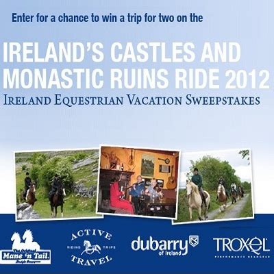 N Sweepstakes by 2012 Mane N Ireland Equestrian Vacation Sweepstakes