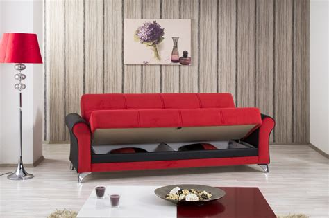 red convertible sofa urban style tuva red convertible sofa bed by casamode