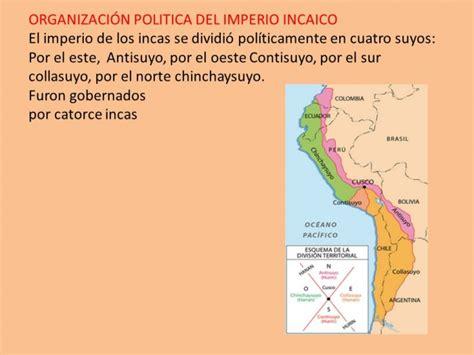 el imperio de los cuadros sin 243 pticos sobre los incas cuadro comparativo