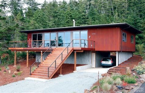 stops and starts for a prefab home on the oregon coast home