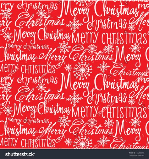 seamless pattern with words vector christmas words seamless pattern stock vector