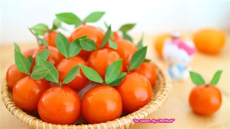 new year tangerine significance เชฟน น chefnun cooking ล กช บส ม