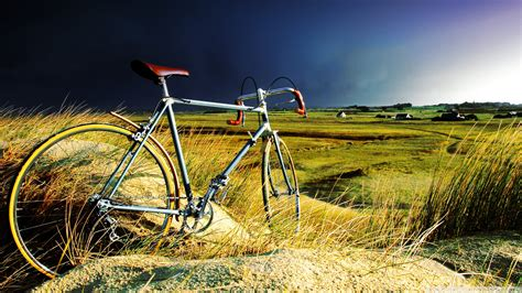 vintage bicycle in the storm wallpaper 1920x1080
