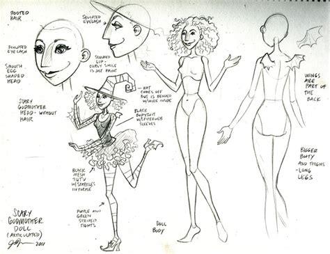 fashion doll drawing kickstarting scary godmother fashion dolls boing boing