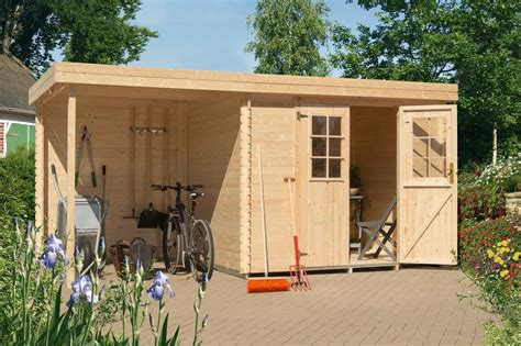 gartenhaus mit holzlager luoman gartenhaus 187 lillevilla 429 mod 171 bxt 240x200 cm