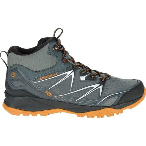 mens waterproof hiking boot merrell capra bolt mid waterproof hiking boot s