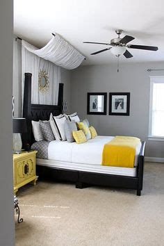black and white bedroom with a pop of color bedroom on pinterest behr white bedding and gray bedroom