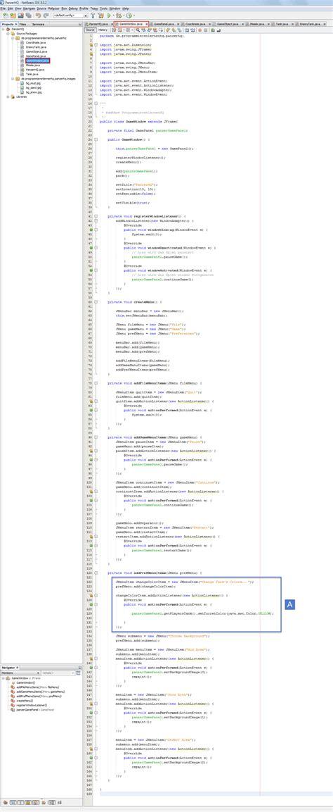 java pattern klasse java spiel programmieren tutorial einstellungsdialog anlegen