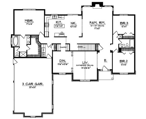 cordwood traditional ranch home plan 051d 0015 house