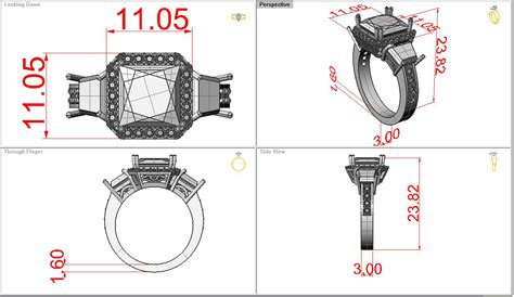 Drawing O Ring Solidworks by Custom Designed Engagement Rings By Cad