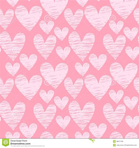 heart pattern pink pink heart seamless pattern stock vector illustration of